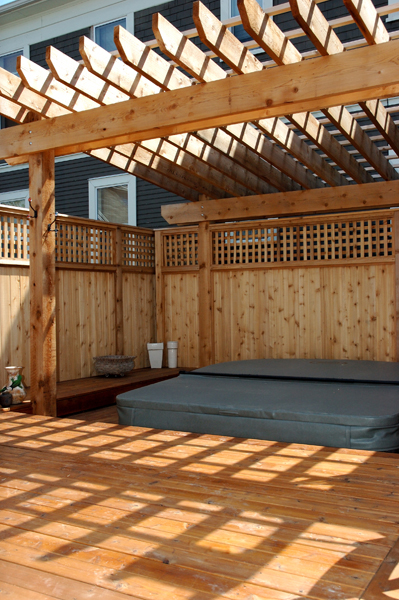 Free home plans deck hot tub building plans for Hot tub deck designs plans